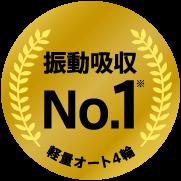 振動吸収No.1 軽量オート4輪